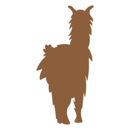 Llama standing silhouette