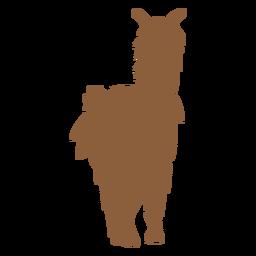 Silhueta de pé de lhama