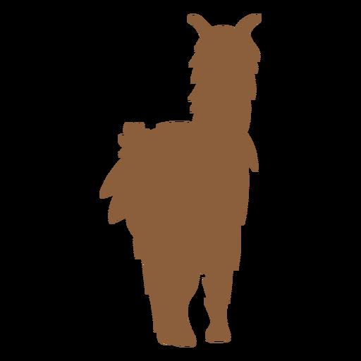Llama standing silhouette Transparent PNG