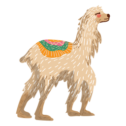 Llama walking illustration