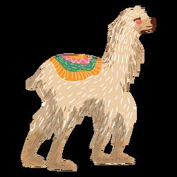 Llama walking illustration