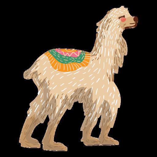 Llama caminando ilustración Transparent PNG