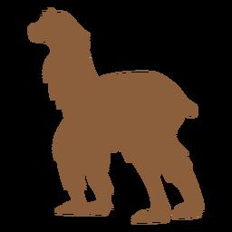 Lama zu Fuß Silhouette