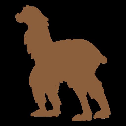 Llama walking silhouette Transparent PNG