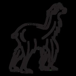 Llama walking stroke