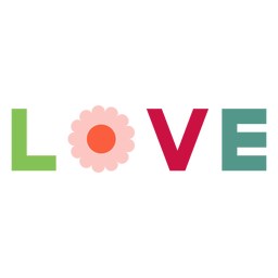 Love lettering element