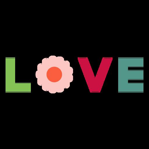 Love lettering element Transparent PNG