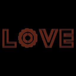 Letras amorosas elemento de trazo