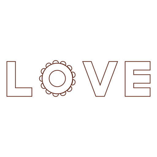 Letras amorosas elemento de trazo Transparent PNG
