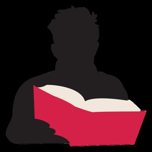 Homem, leitura, livro, silueta, pessoas, leitura Transparent PNG