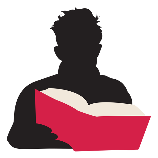 Man reading book silhouette people reading Transparent PNG
