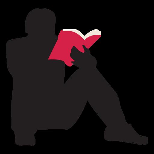 Hombre leyendo silueta Transparent PNG