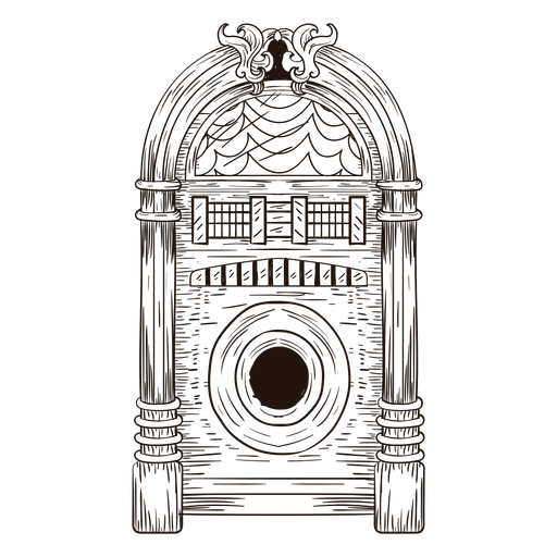 Esbozo de música jukebox Transparent PNG