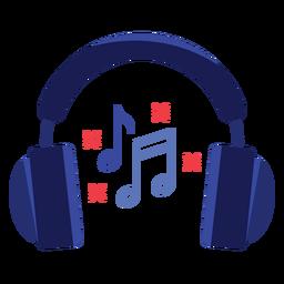 Ícono de auriculares de notas musicales