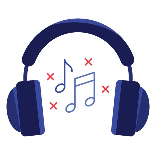 Music notes headphones icon Transparent PNG