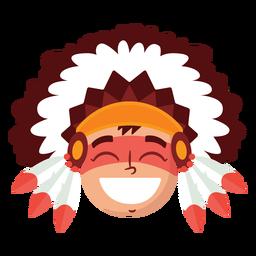 Cabeça de homem nativo americano