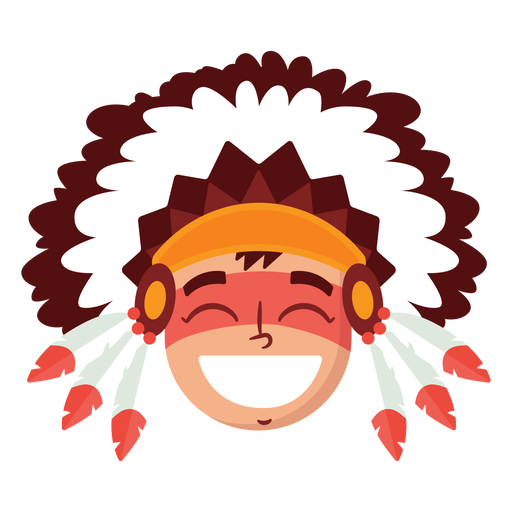 Native american man head Transparent PNG
