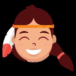 Cabeça de mulher nativa americana