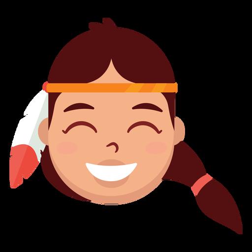 Cabeza de mujer nativa americana Transparent PNG