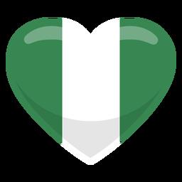 Bandeira do coração de Nigéria