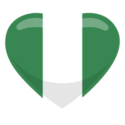 Nigeria heart flag