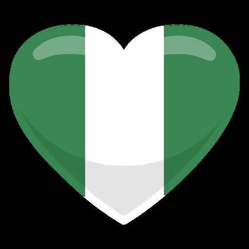 Bandera del corazon de nigeria Transparent PNG