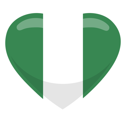 Nigeria heart flag Transparent PNG