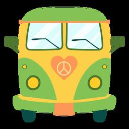 Elemento de bus hippie pintado.