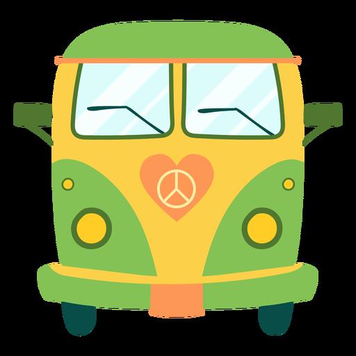 Elemento de bus hippie pintado. Transparent PNG