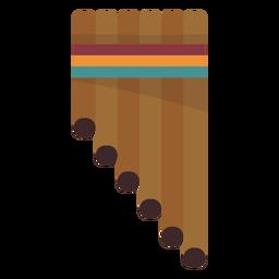 Pan pipe flute