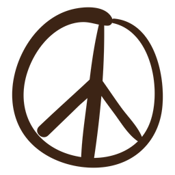 Doodle colorido símbolo de paz