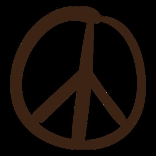 Símbolo de paz coloreado doodle Transparent PNG