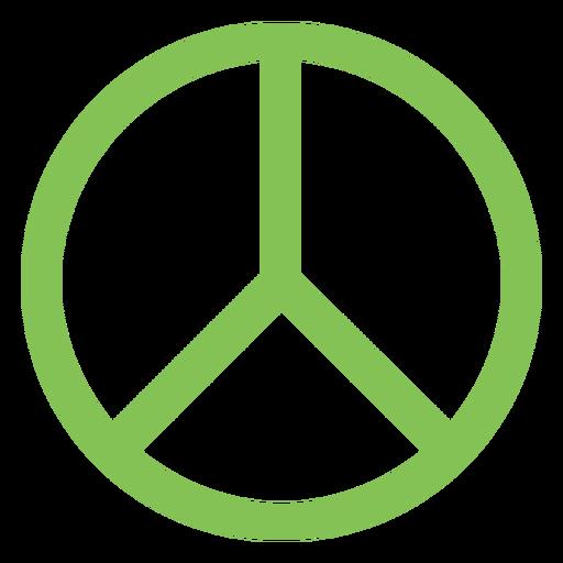 Elemento del símbolo de paz Transparent PNG