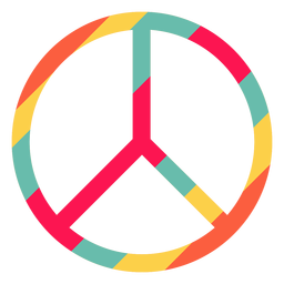 Peace symbol hippie element