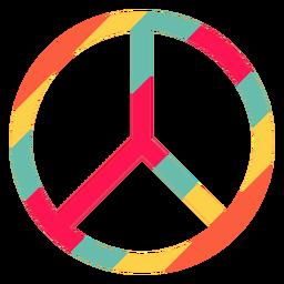 Símbolo de paz elemento hippie