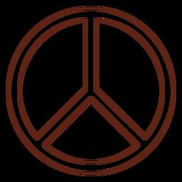 Elemento de movimiento de símbolo de paz
