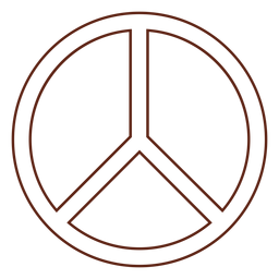 Peace symbol stroke element