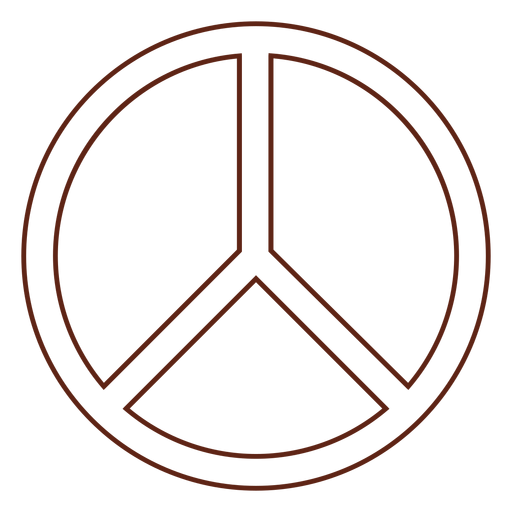 Elemento de trazo de símbolo de paz Transparent PNG