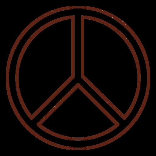 Peace symbol stroke element Transparent PNG