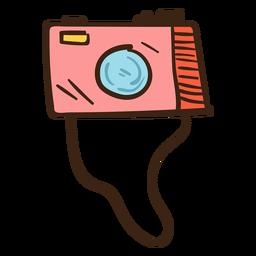 Cámara fotográfica coloreada doodle.