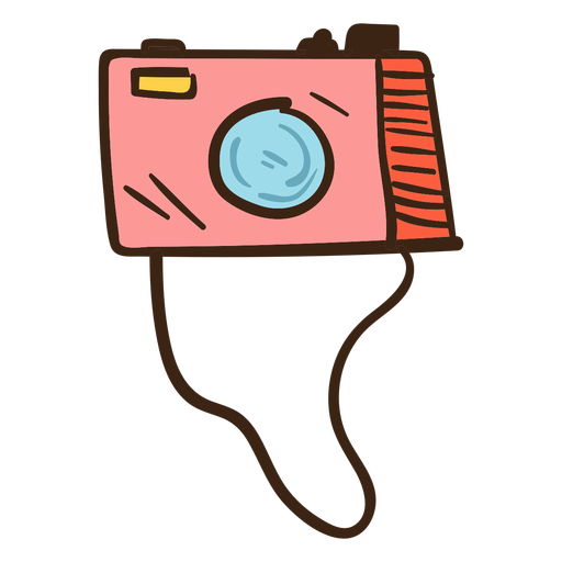 Cámara de fotos color doodle Transparent PNG