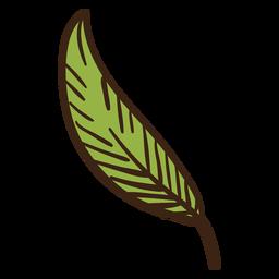 Doodle colorido de folha de planta