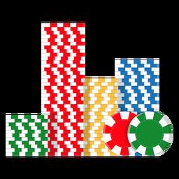 Icono de pila de fichas de póquer