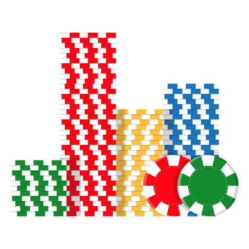 Icono de pila de fichas de póquer Transparent PNG