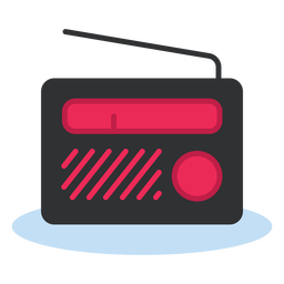 Ícone de rádio portátil