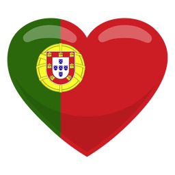 Portugal heart flag heart flag