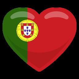 Portugal heart flag heart flag
