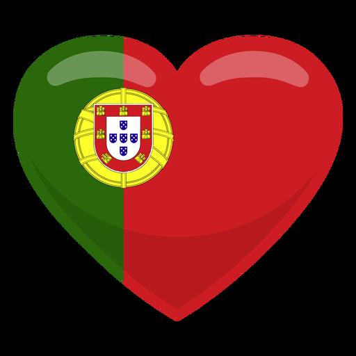 Portugal heart flag heart flag Transparent PNG