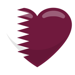 Bandeira do coração do Qatar