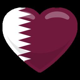 Bandera del corazon de qatar